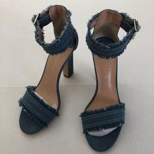 Tony Bianco Axel heels in light denim